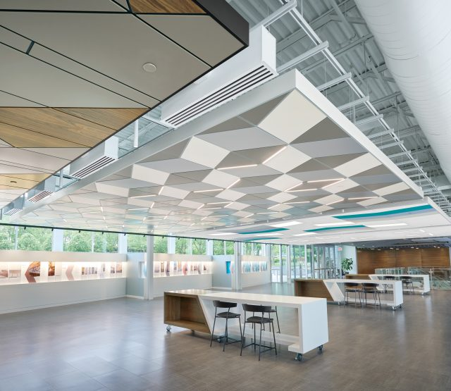 smucker constructed ceiling in office building